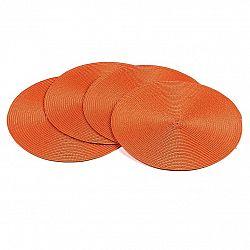 Jahu Prostírání Deco kulaté oranžová, pr. 35 cm, sada 4 ks