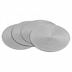Jahu Prostírání Deco kulaté šedá, pr. 35 cm, sada 4 ks