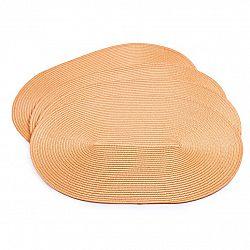 Jahu Prostírání Deco ovál oranžová, 30 x 45 cm, sada 4 ks