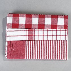Jahu Sada kuchyňských utěrek mix červená, 50 x 70 cm, 3 ks