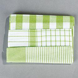 Jahu Sada kuchyňských utěrek mix zelená, 50 x 70 cm, 3 ks