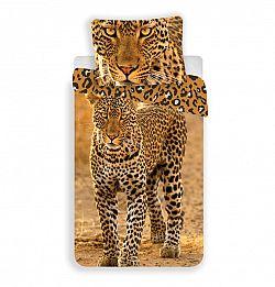Jerry Fabrics bavlna povlečení Leopard 2017 140x200 70x90