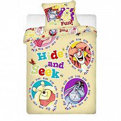 Jerry Fabrics Dětské bavlněné povlečení Medvídek Pú balloon, 140 x 200 cm, 70 x 90 cm