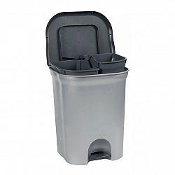 Keeeper Nášlapný odpadkový koš torge, světle šedý 2x11L