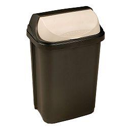 Keeeper Odpadkový koš se zasouvacím víkem rasmus, tmavě šedý 25L