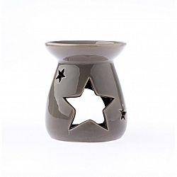Keramická aromalampa Hvězda, šedá