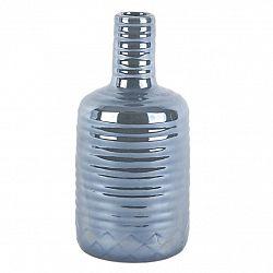 Keramická perleťová váza šedá, 22 cm