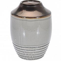 Keramická váza Anadia šedá, 18,5 x 25 cm