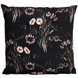 Koopman Polštářek Flowers black, 45 x 45 cm