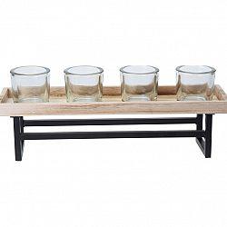 Koopman Svícen na čajové svíčky Beaming, 37,5 x 9,5 x 2 cm