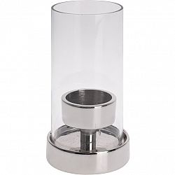Koopman Svícen na čajovou svíčku Lomero čirá, 15 cm