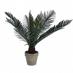 Koopman Umělá Palma v květináči tmavě zelená, 50 cm