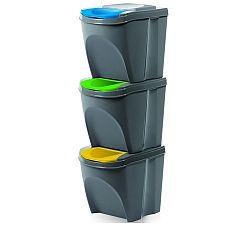 Koš na tříděný odpad Sortibox 20 l, 3 ks, šedá IKWB20S3405u