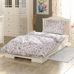 Kvalitex Bavlněné povlečení Provence Beáta fialová, 240 x 220 cm, 2 ks 70 x 90 cm