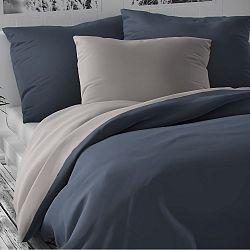 Kvalitex Saténové povlečení Luxury Collection sv. šedá/tmavě šedá, 200 x 200 cm, 2 ks 70 x 90 cm