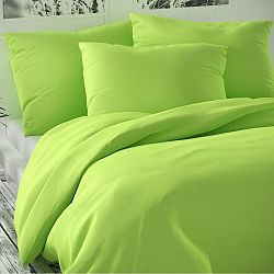 Kvalitex Saténové povlečení Luxury Collection světle zelená, 140 x 220 cm, 70 x 90 cm