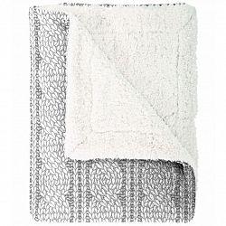 Mistral Home Beránková deka Cable knit šedá, 150 x 200 cm