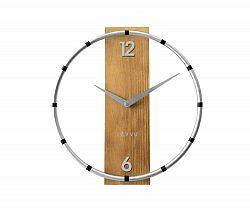Nástěnné hodiny Lavvu Compass Wood stříbrná