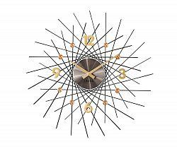Nástěnné hodiny Lavvu Crystal Lines antracitová