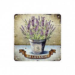 Obraz na kovové desce La Lavande, 20 x 20 cm