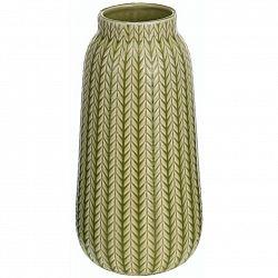 Porcelánová váza Knit světle zelená, 24,5 cm
