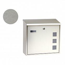 Poštovní nerezová schránka s okénky BK.703.G.Z.N