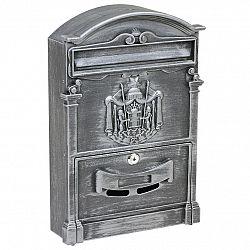 Poštovní ocelová schránka s hliníkovým čelem BK.301.SP