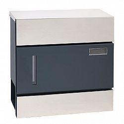 Poštovní ocelová schránka s okénkem BK.932.LG.AM.N