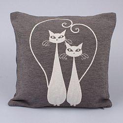 Povlak na polštářek Cats šedá, 40 x 40 cm