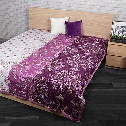 Přehoz na postel Alberica fialová, 160 x 220 cm
