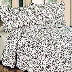 Přehoz na postel Flowers, 230 x 250 cm, 2x 50 x 70 cm, 230 x 250 cm