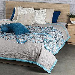 Přehoz na postel Laissa tyrkysová, 240 x 200 cm