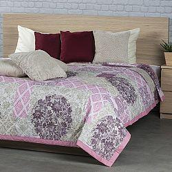 Přehoz na postel Ottorino fialová, 240 x 200 cm