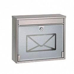 Richter Poštovní ocelová schránka s tvrzeným sklem, 36 cm