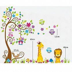 Samolepicí dekorace barevný les zvířat