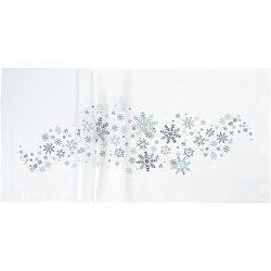 Sander Ubrus Crystal medley bílá 85 x 85 cm
