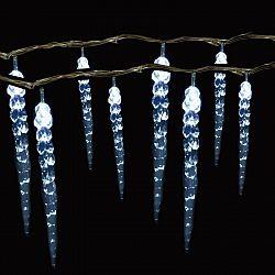SHARKS Vánoční osvětlení - Světelný řetěz (rampouchy) se 100 LED diodami, bílá SA066