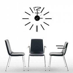 StarDeco Nástěnné hodiny černá, pr. 60 cm