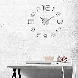 StarDeco Nástěnné hodiny číslice stříbrná,