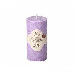 Stearinová svíčka Capri Levandule, 12 cm