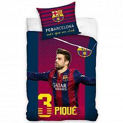 Tip Trade Bavlněné povlečení FC Barcelona Pique, 160 x 200 cm, 70 x 80 cm
