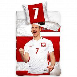 TipTrade Bavlněné povlečení Polska Milik Stripe, 160 x 200 cm, 70 x 80 cm