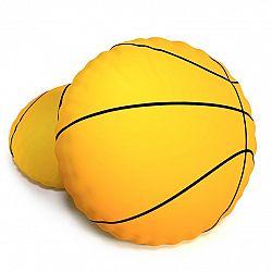 TipTrade Tvarovaný 3D polštářek Basketbalový míč Baskeťák, 40 cm