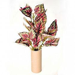 Umělá begonie, zeleno-červená, 45 cm,  HTH