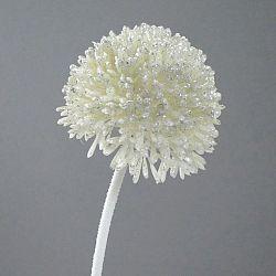 Umělá květina Česnek krémová s glitrem