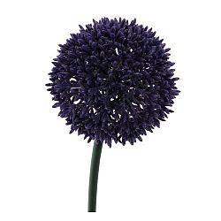 Umělá květina Česnek tmavě fialová, 68 cm
