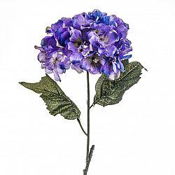 Umělá květina hortenzie modro-fialová, 60 cm, Livo