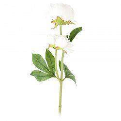 Umělá květina Pivoňka bílá, 58 cm