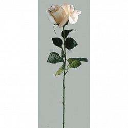 Umělá květina Růže bílá, 60 cm
