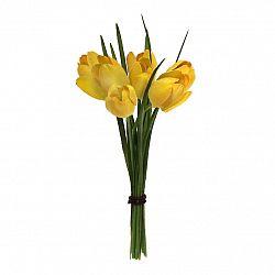 Umělá květina Tulipány žlutá, 23 cm